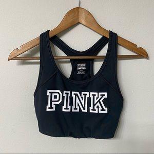 PINK ultimate sports bra - black - medium